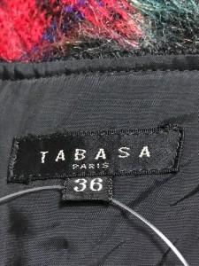 タバサ TABASA ワンピース サイズ36 S レディース 黒×レッド×マルチ【中古】