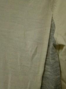 エポカ EPOCA 長袖カットソー サイズ40 M レディース 美品 アイボリー×グレー ニット【中古】