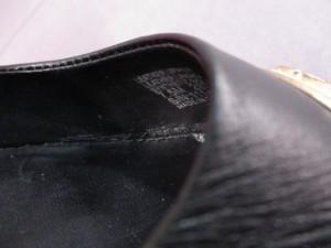 トリーバーチ TORY BURCH パンプス 7.5 レディース 黒×アイボリー×ゴールド ウェッジソール レザー【中古】