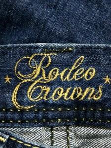 ロデオクラウンズ RODEOCROWNS ジーンズ サイズ28 L レディース ネイビー ダメージ加工【中古】