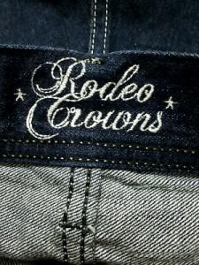 ロデオクラウンズ RODEOCROWNS ジーンズ サイズM レディース ダークネイビー ショート丈/切りっぱなし【中古】