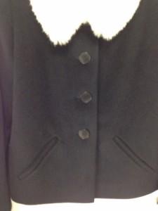 アニエスベー agnes b コート サイズ2 M レディース 黒×白 ショート丈/冬物【中古】