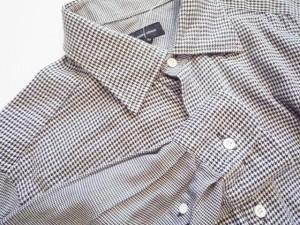 ジョセフオム JOSEPH HOMME 長袖シャツ サイズ50 メンズ 黒×白 千鳥格子【中古】