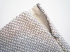 ポールカ PAULEKA スカート サイズ36 S レディース グレー×アイボリー ニット/フリンジ【中古】