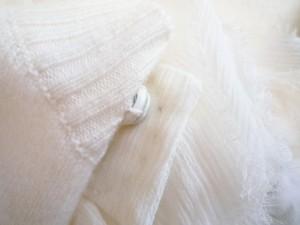 エポカ EPOCA ワンピース サイズ40 M レディース アイボリー カシミヤ/ニット/首元装飾着脱可【中古】