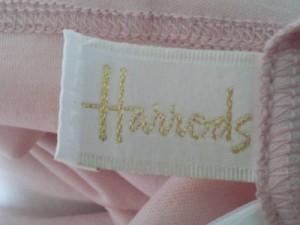ハロッズ HARRODS 半袖カットソー レディース 美品 ピンク 刺繍【中古】