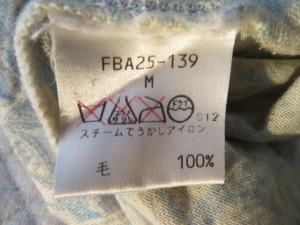 バーバリーズ Burberry's 半袖セーター サイズM レディース 美品 アイボリー×ライトグレー ハイネック【中古】