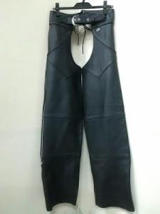 ハーレーダビッドソン HARLEY DAVIDSON パンツ サイズS メンズ 黒 レザー/チャップス【中古】