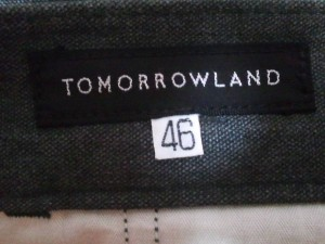 トゥモローランド TOMORROWLAND パンツ サイズ46 XL メンズ ダークグレー【中古】