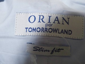 オリアン ORIAN 長袖シャツ サイズ38 M メンズ ライトブルー PER TOMORROWLAND【中古】