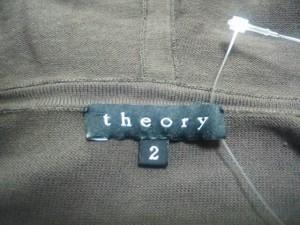セオリー theory パーカー サイズ2 S レディース ダークブラウン 薄手【中古】