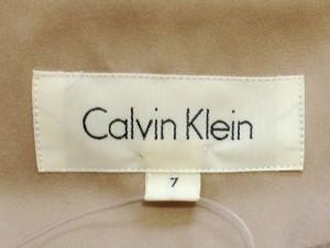 カルバンクライン CalvinKlein コート サイズ7 S レディース 美品 ベージュ 春・秋物【中古】