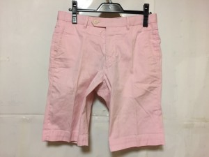 トゥモローランド TOMORROWLAND ハーフパンツ サイズ46 XL メンズ ピンク×アイボリー ストライプ【中古】
