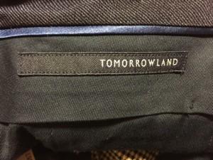 トゥモローランド TOMORROWLAND パンツ サイズ46 XL メンズ アイボリー×黒【中古】
