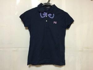 パーリーゲイツ PEARLY GATES 半袖ポロシャツ サイズ0 XS レディース ダークネイビー×マルチ【中古】
