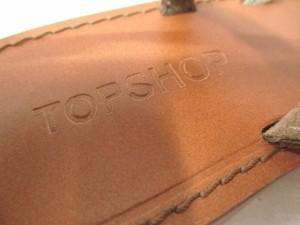 トップショップ TOPSHOP ビーチサンダル 37 レディース 美品 ゴールド レザー【中古】