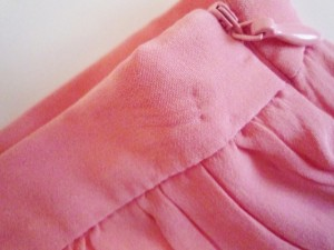 ミュウミュウ miumiu ミニスカート サイズ38 S レディース ピンク 2012年/シルク/リボン【中古】