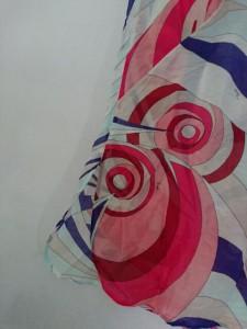 エミリオプッチ EMILIO PUCCI チュニック サイズ42 M レディース 美品 ライトブルー×ボルドー×マルチ シースルー【中古】