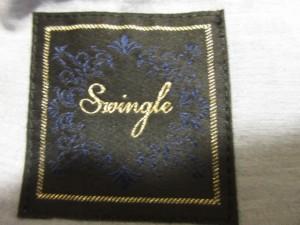 スウィングル Swingle ジャケット サイズ2 M レディース ライトブルー フリル【中古】