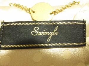 スウィングル Swingle ジャケット サイズ1 S レディース ベージュ 肩パッド【中古】