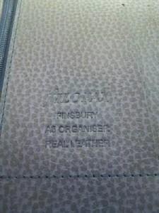 ファイロファックス Filofax 手帳 美品 FINSBURY パープル A5システム手帳 レザー【中古】