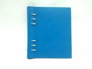 ファイロファックス Filofax 手帳 美品 CLIPBOOK ブルーグリーン 合皮【中古】