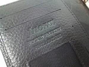 ファイロファックス Filofax 手帳 POCKET FINSBURY 黒 レザー【中古】