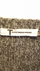 アレキサンダーワン TbyALEXANDER WANG 長袖セーター サイズサイズ XS レディース 美品 ダークグレー Vネック【中古】