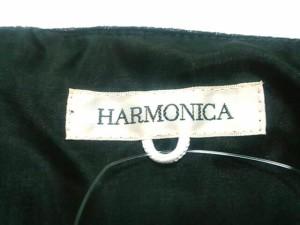 ハーモニカ HARMONICA ワンピース レディース 美品 黒 ベロア/ドット柄【中古】