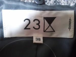 ニジュウサンク 23区 コート サイズ38 M レディース 美品 黒×グレー×レッド 冬物【中古】