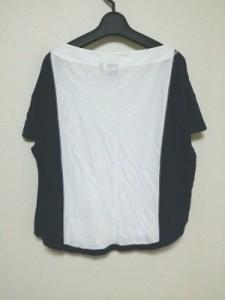 イリアンローブ iliann loeb 半袖Tシャツ サイズM レディース 美品 白×ネイビー UNIQLO【中古】
