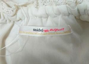 スナイデル snidel ワンピース サイズF レディース 美品 白×ピンク ボーダー/レース【中古】