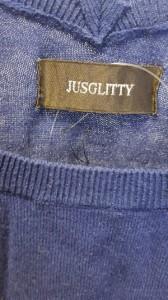 ジャスグリッティー JUSGLITTY 半袖セーター サイズサイズ 2 レディース ネイビー【中古】