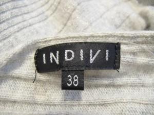 インディビ INDIVI チュニック サイズ38 M レディース ライトグレー ニット/ラメ【中古】