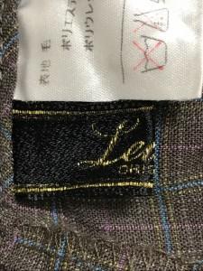 レリアン Leilian パンツ サイズ13+ S レディース 美品 ダークブラウン×マルチ チェック柄【中古】
