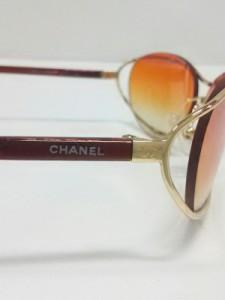 シャネル CHANEL サングラス 新品同様 4020 ダークブラウン×ゴールド×オレンジ 金属素材×プラスチック【中古】