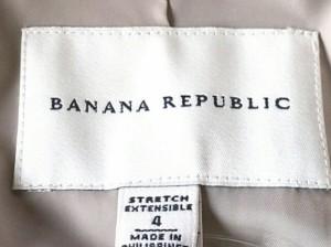 バナナリパブリック BANANA REPUBLIC ジャケット サイズ4 S レディース 美品 グレーベージュ 肩パッド【中古】