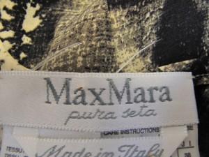 マックスマーラ Max Mara ワンピース サイズ38 S レディース アイボリー×黒×グレー【中古】