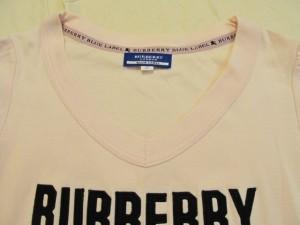 バーバリーブルーレーベル Burberry Blue Label 半袖Tシャツ サイズ38 M レディース ピンク×黒【中古】