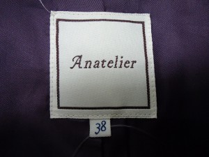 アナトリエ anatelier コート サイズ38 M レディース 新品同様 ダークパープル ショート丈/冬物【中古】