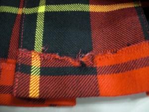 ヨークランド YORKLAND スカート サイズ9AR S レディース レッド×黒×イエロー チェック柄/プリーツ【中古】