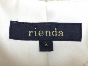 リエンダ rienda コート サイズS レディース 美品 アイボリー×ベージュ 冬物/フェイクファー【中古】