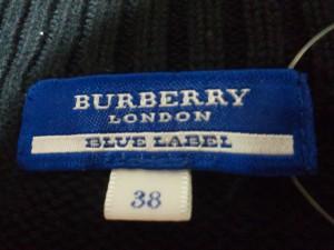 バーバリーブルーレーベル Burberry Blue Label 七分袖セーター サイズ38 M レディース ダークネイビー ジップアップ【中古】