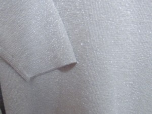 ダーマコレクション DAMAcollection 長袖セーター サイズM レディース 美品 ライトグレー×シルバー ラメ【中古】