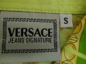 ヴェルサーチジーンズシグネチャー VERSACE jeans signature ノースリーブシャツブラウス サイズS レディース 美品【中古】