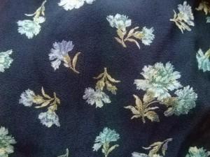 ローラアシュレイ LAURAASHLEY ワンピース サイズ13 L レディース 美品 ネイビー×ライトブルー×マルチ 花柄/シャツワンピ【中古】