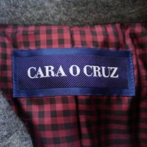 キャラオクルス CARA O CRUZ コート サイズ13 L レディース 美品 ダークグレー 裏地ギンガムチェック/冬物【中古】