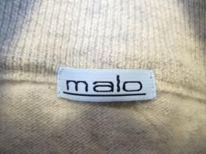 マーロ MALO カーディガン サイズ54 レディース ライトグレー【中古】