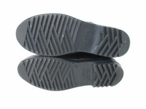 エーグル AIGLE ブーツ 37 レディース 黒×レッド ラバー【中古】