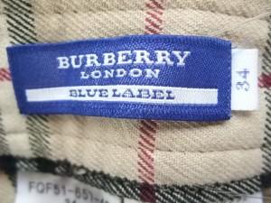 バーバリーブルーレーベル Burberry Blue Label パンツ サイズ34 S レディース 美品 ベージュ×黒×レッド チェック柄【中古】